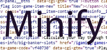 What is minified code?