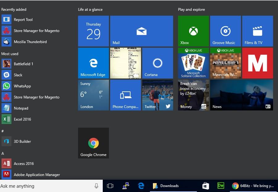 Windows 10 Advertisement
